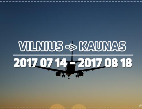 Informacija dėl skrydžių perkėlimo į Kauno oro uostą