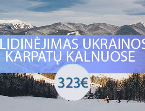 Slidinėjimas Ukrainos Karpatų kalnuose – Bukovelyje
