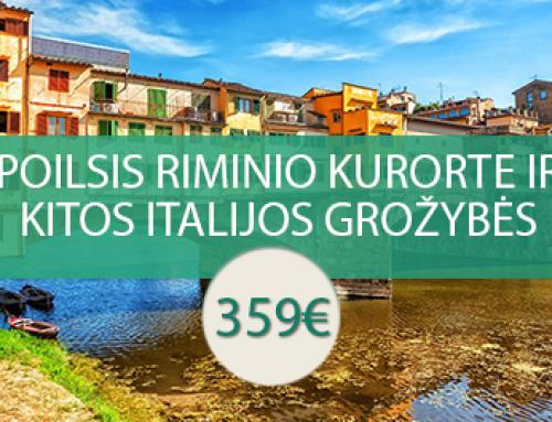 Poilsis Riminio kurorte ir kitos Italijos grožybės